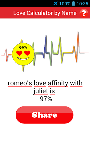 my love relationship calculator by name