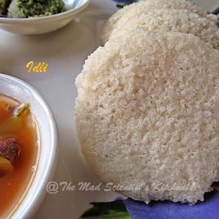 Idli/ Steamed Rice Cakes.