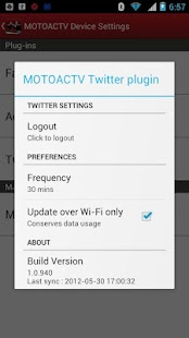 MOTOACTV plugin for Twitter. - screenshot thumbnail