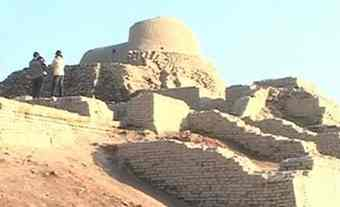 Ancient city in Harappa, Pakistan where Indus people lived