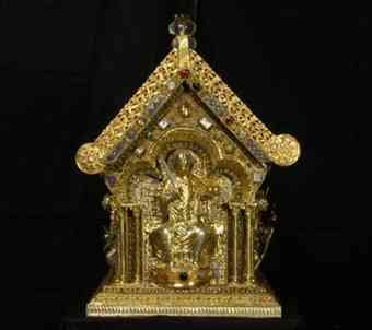 13th-century Reliquary of St. Maurus on display at Prague Castle