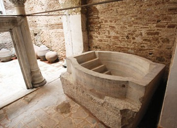 Newly unearthed baptismal font at Hagia Sophia to open in spring