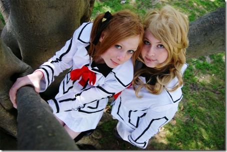 vampire knight cosplay - touya rima and souen ruka