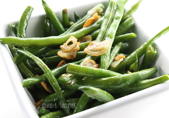 I was never a fan of string beans until I learned how to cook them properly. Now I love them. The trick is not to overcook them. This is a quick, healthy side dish for all you garlic lovers out there.