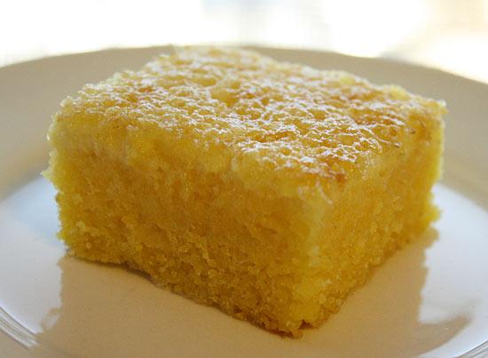 quick and easy Brazilian cornmeal cake recipe.