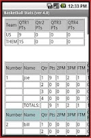 Screenshot of Basketball Stats