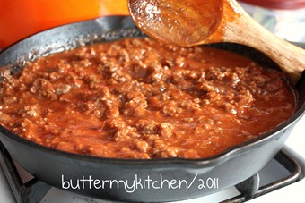 sloppy joe sauce cooking