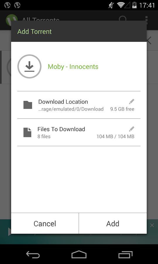 µTorrent®- Torrent Downloader - screenshot