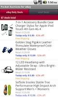 Screenshot of Pocket Auctions eBay
