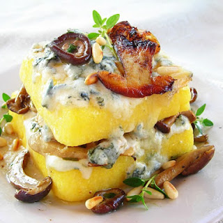 Wild Mushroom & Gorgonzola Polenta Lasagna.