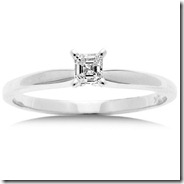 71120d52b 1/2 Carat Princess-Cut Diamond Solitaire Ring in 14kt White Gold ...