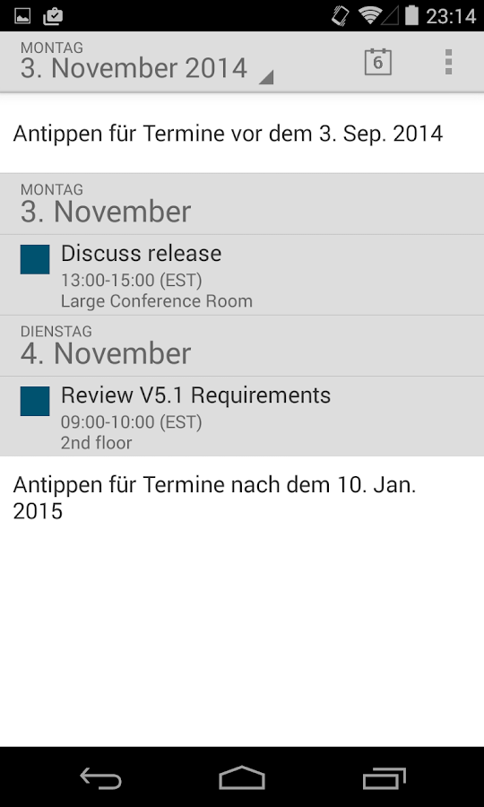 MobiMail für Outlook E-Mail – Screenshot