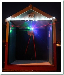 Advent_Beach_Hut_Lasers in Brighton
