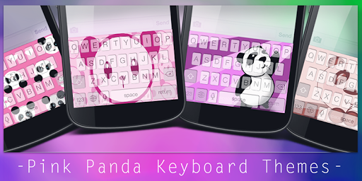 Pink Panda Keyboard Themes