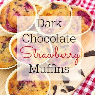Dark Chocolate Strawberry Muffins