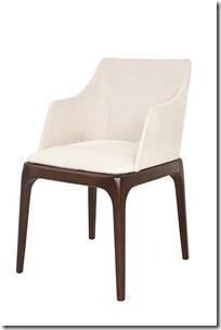 31c6ce22f Cadeira modelo Milão: estrutura em madeira maciça em embuia e encosto e  assento revestido em sued na cor areia.