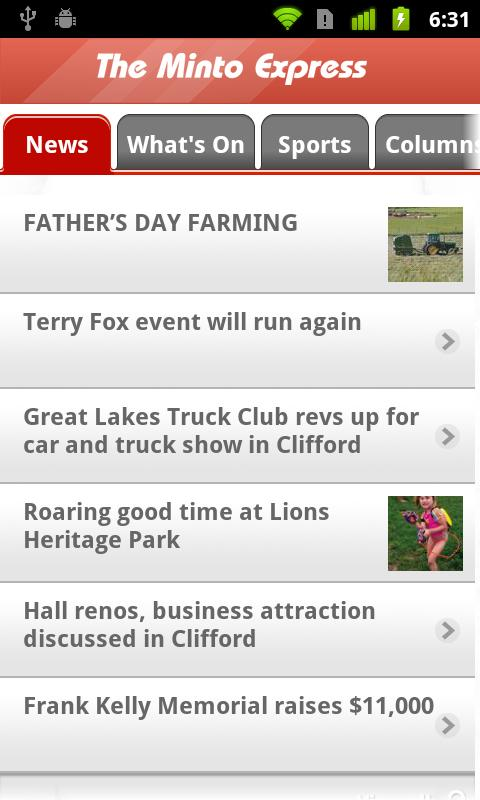 Minto Express- screenshot