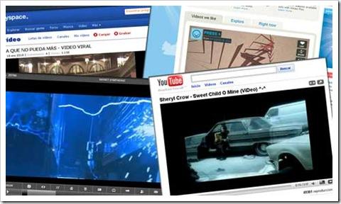 Algunos de los muchos sitios web que ofrecen vídeo en formato FLV