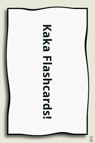 Kaka Flashcards - screenshot