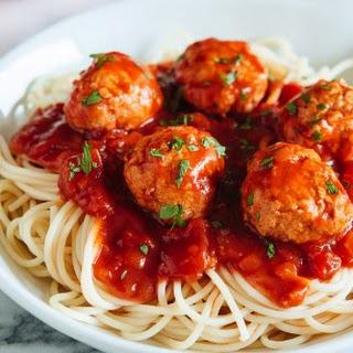 Bounty Fresh Buffalo Chicken Meatball Spaghetti
