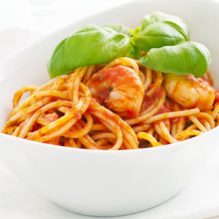 Shrimp Fra Diavolo with Pasta.