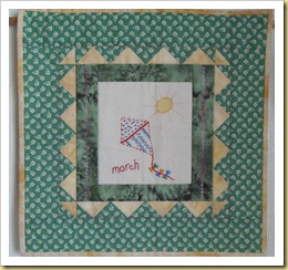 March Calendar Stitchery