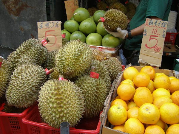 Imagini Hong Kong:  HK durian si alte fructe