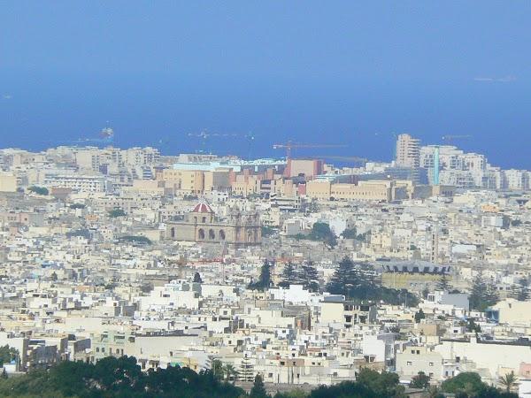 Obiective turistice Malta: vedere din Mdina.JPG