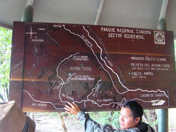 Obiective turistice Venezuela: harta zonei Canaima.JPG