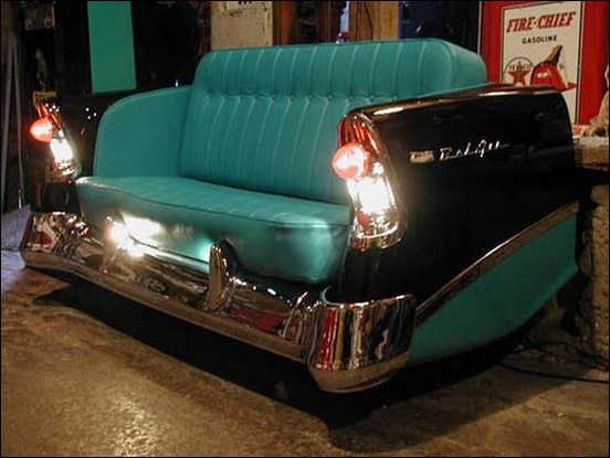 Custom Furniture Made From Car Parts Megamachine