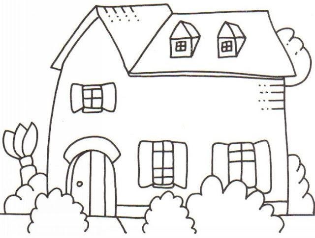 Dibujos De Casas Para Colorear Para Ninos: LAMINAS DE CASAS PARA PINTAR Y COLOREAR