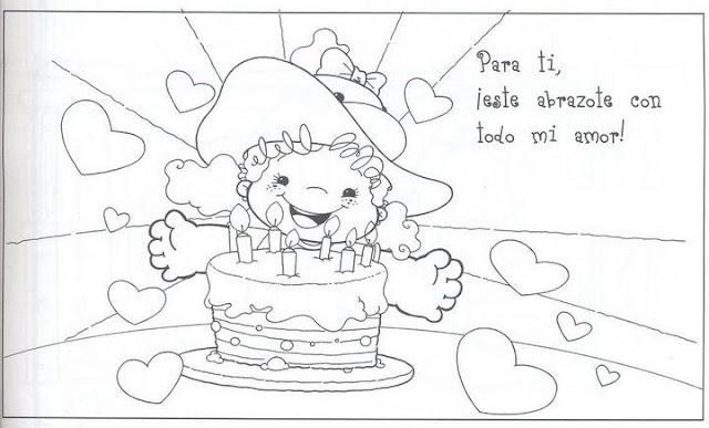 Laminas Con Dibujos De Cumpleaños Para Pintar Y Decorar