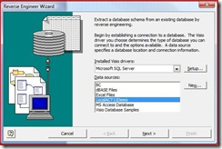 Visio - Reverse Engineer Wizard 1