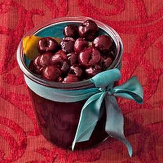 Quick Brandied Cherries.