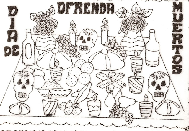 Dibujos Ofrendas Dia De Muertos