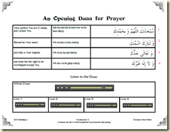 Opening Duaa for Prayer