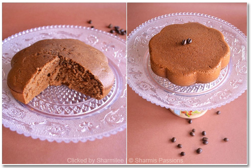 Eggless Choco Coffee Cake Recipe