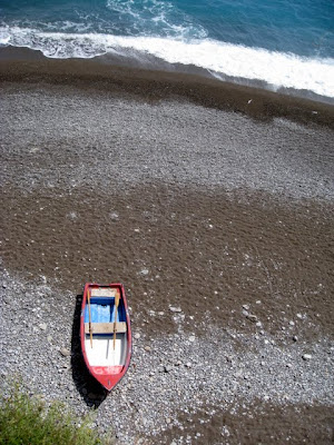 Boat on the beach in Positano Italy