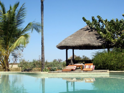 Swimming pool at Les Collines de Niassam in Senegal