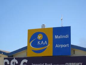 Malindi Airport in Kenya