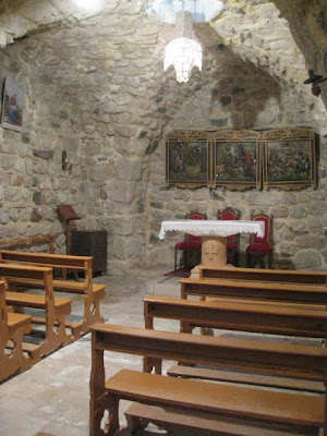 Interior of the church of St. Ananias in Damascus Syria