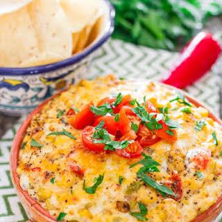 Spicy Cheesy Corn and Tomato Dip.