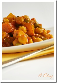 curry z ciecierzycą/ chickpea curry