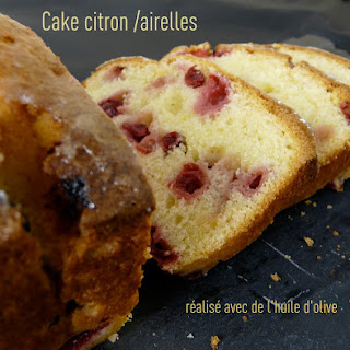 Lemon-Cranberry Cake with Olive Oil.
