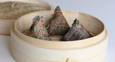 photo of three rice dumplings