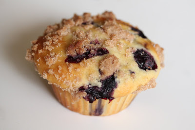 photo of one blueberry muffin