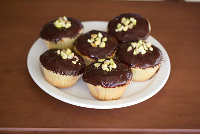 photo of Pistachio cupcakes on a plate
