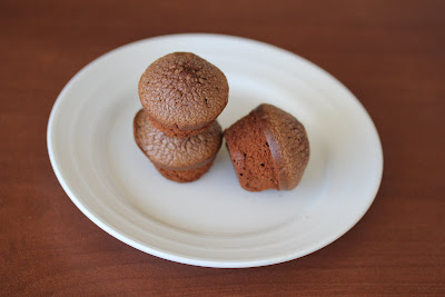 photo of three Mini Nutella Cakes on a plate
