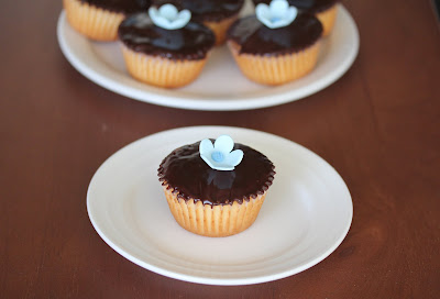 photo of one cupcake on a plate