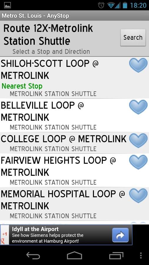 Metro Transit St Louis AnyStop - screenshot